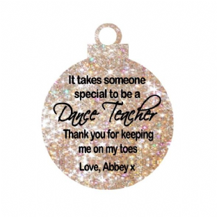 Dance Teacher Acrylic Christmas Ornament Decoration
